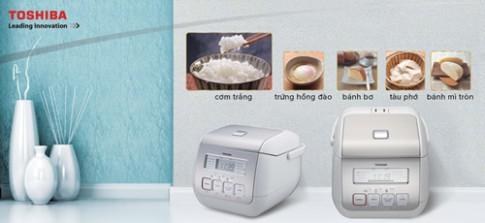 Nồi cơm điện tử Toshiba đa dạng các chế độ nấu.