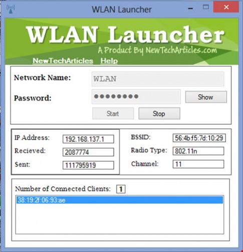 Phần mềm phát Wi-Fi siêu nhỏ gọn