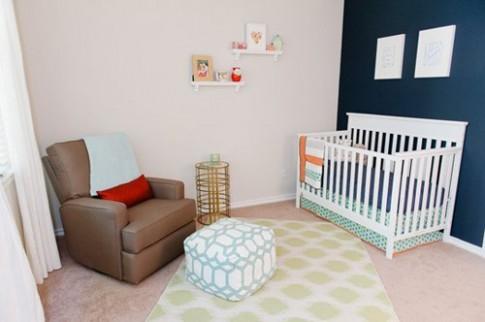 Phòng dễ thương cho bé gái 7 tháng tuổi