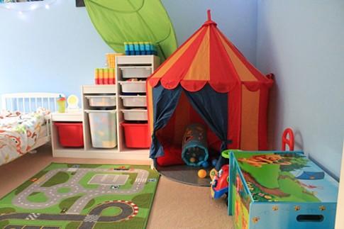 Sắm lều vải làm nơi vui chơi cho bé