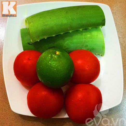 Sinh tố cà chua nha đam thơm ngon, bổ dưỡng