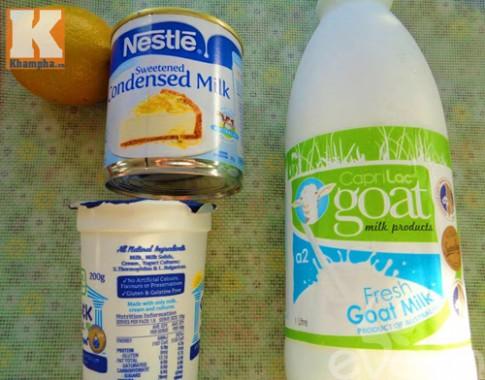 Sữa chua dê mát lạnh cho ngày hè