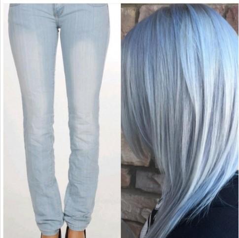 Sức hấp dẫn kỳ lạ từ những mái tóc màu xanh khói