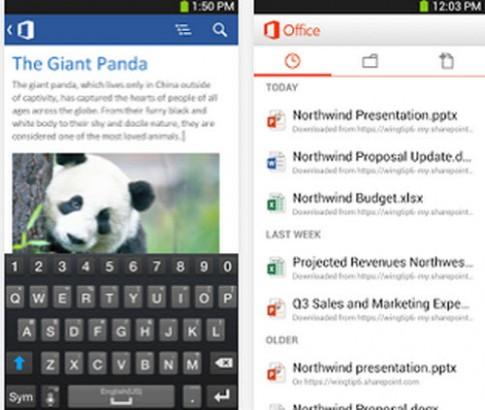 Tải miễn phí Microsoft Office cho máy tính bảng Android