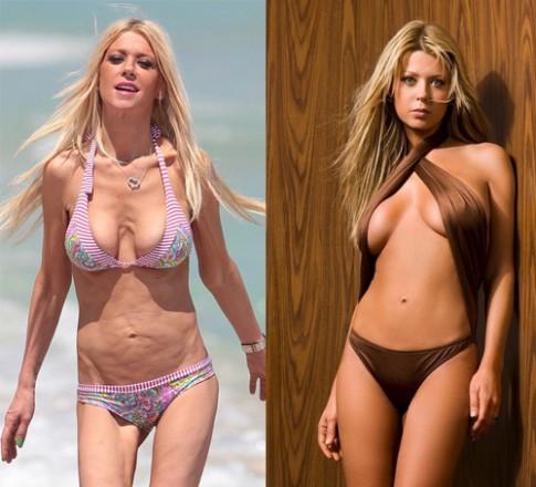 Than hinh bikini qua xap xe cua nguoi mau Tara Reid