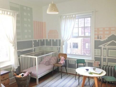 Thành phố thu nhỏ trong phòng của bé