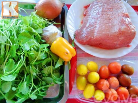Thịt bò trộn cải xoong đơn giản mà ngon