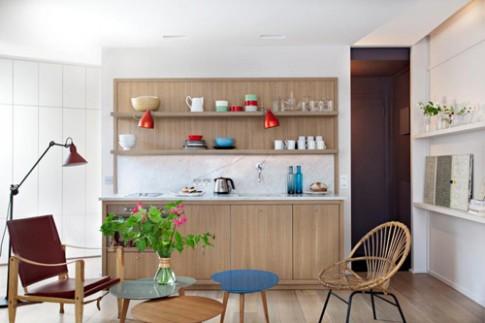 Thử thách trong thiết kế căn hộ 28 m2 méo mó