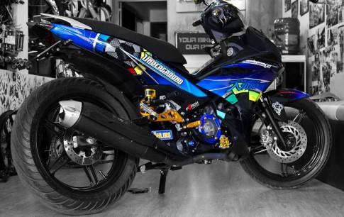Tiếp tục Exciter 150 độ tem đấu cùng nhiều đồ chơi chất của biker Sài Gòn