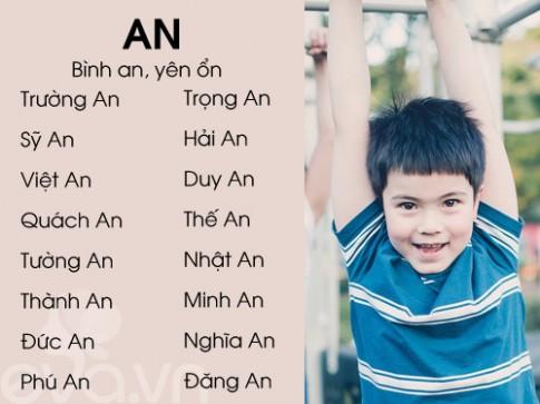 Top tên sang, nghĩa đẹp cho bé trai 2016 (Phần 1)