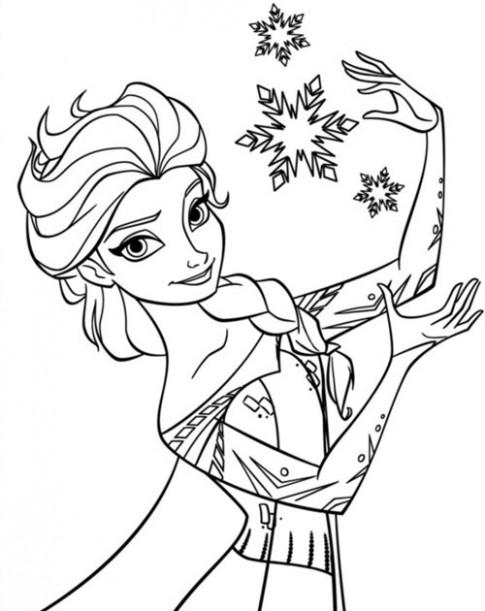 Tranh tô màu công chúa phim Frozen cho bé gái mê mẩn