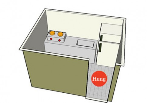 Tủ lạnh cạnh bếp - Kim khắc Hỏa gây nhiều thị phi