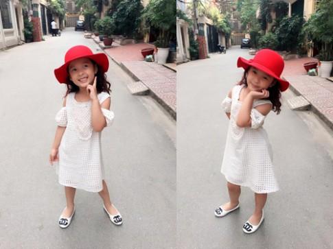 Váy áo xinh yêu sành điệu của bé Nhím con gái Hồng Đăng