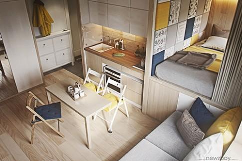 4 căn hộ dưới 40 m2 vẫn đầy đủ tiện nghi