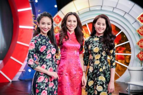 Dàn người đẹp diện áo dài 'quậy tung' show cuối năm