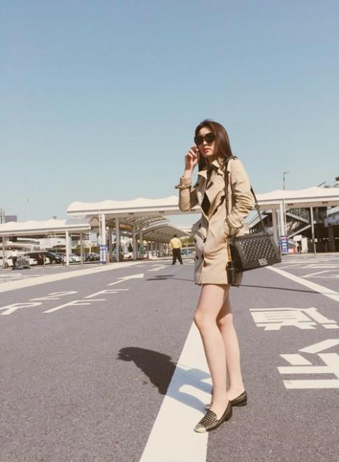 """Kỳ Duyên diện """"cây"""" đồ hiệu đắt tiền đi du lịch Nhật"""