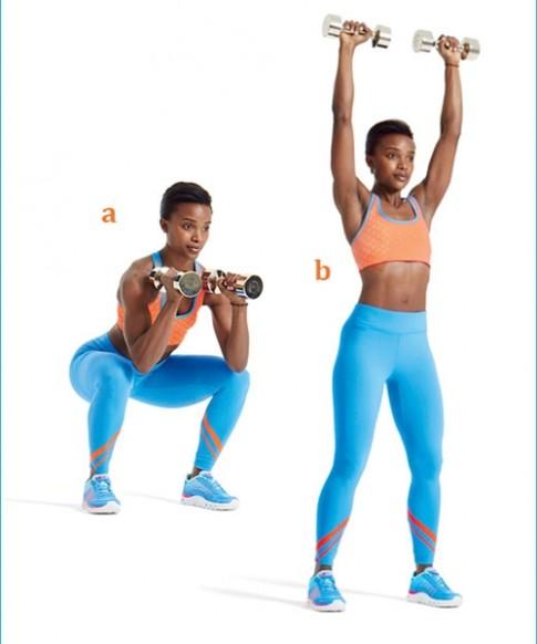 Săn chắc toàn bộ cơ thể với 15 phút tập tạ mỗi ngày