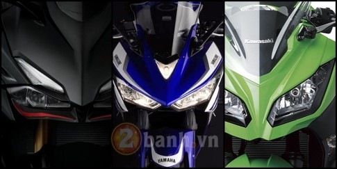 So sánh Honda CBR250RR, Yamaha R25 và Kawasaki Ninja 250