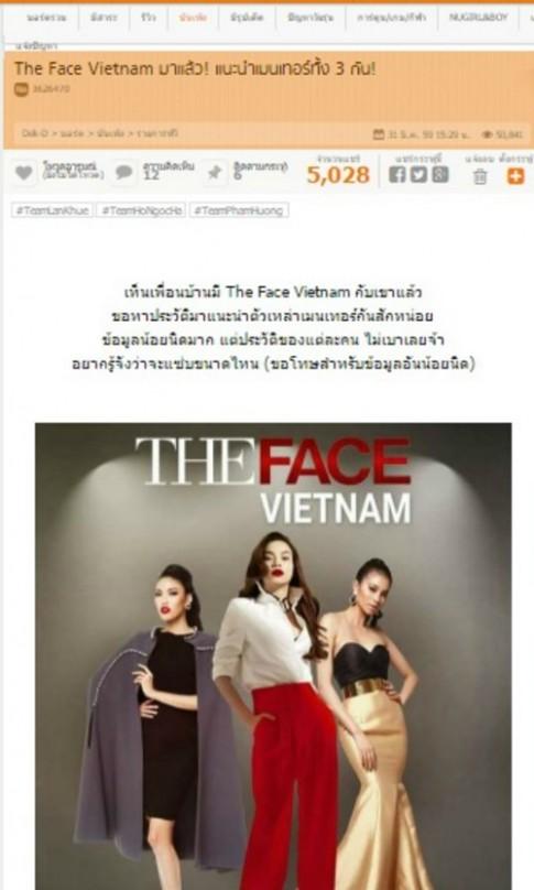 Truyền thông Thái Lan nhầm lẫn hình ảnh Hà Hồ thành Phạm Hương