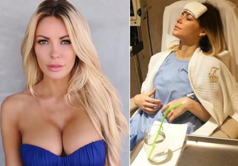 Vợ ông chủ Playboy tháo bỏ túi độn ngực