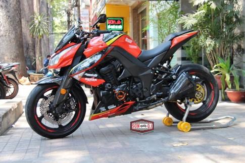 Z1000 cam đen chất chơi với option carbon
