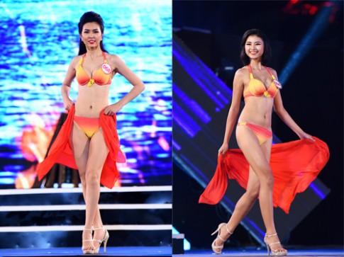 18 thí sinh Hoa hậu miền Bắc 'thiêu đốt' sân khấu với bikini