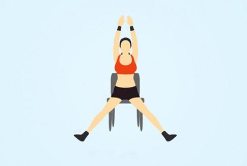 5 bài tập khi ngồi trên ghế giúp cơ thể thon gọn