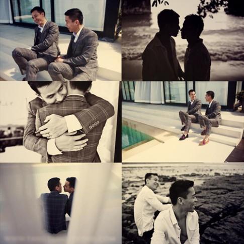 Ngắm bộ ảnh cưới đồng tính nam đầu tiên của Vbiz