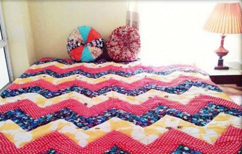 Những chiếc chăn may từ hàng trăm miếng vải rực rỡ