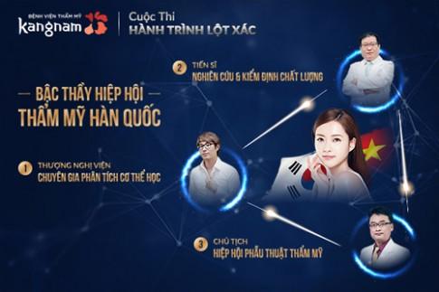 Quy trình biến hóa sắc đẹp Korean Beauty Triangle ở Kangnam.