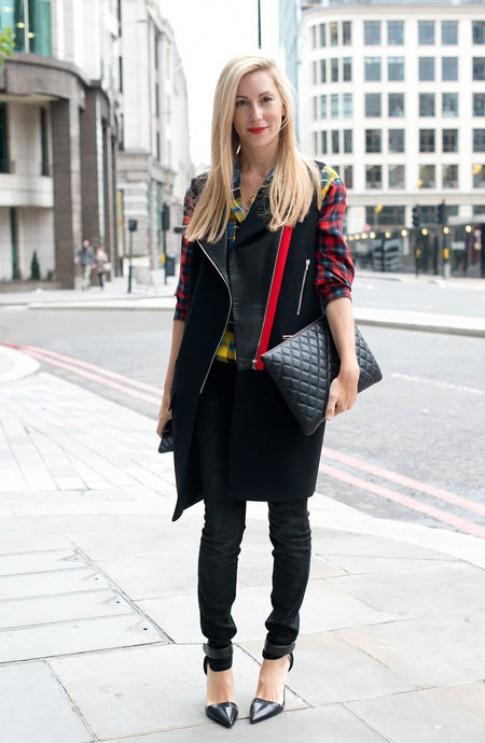 Vay ao thoi thuong tren duong pho London Fashion Week