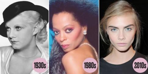 Xu hướng trang điểm mắt thiên biến vạn hóa 100 năm qua