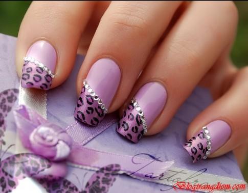 11 kiểu móng tay nail đính đá đẹp 2016 đơn giản tinh tế cho cô nàng sang trọng