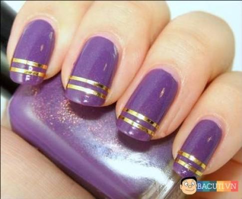 12 Kiểu móng tay nail màu tím đẹp 2016 cho cô dâu lãng mạn quyến rũ