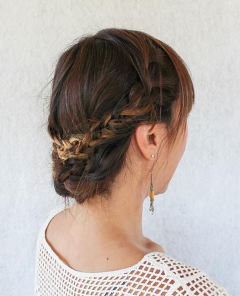 12 kiểu tóc tết búi cao đẹp gọn gàng cho bạn gái ngày hè 2016