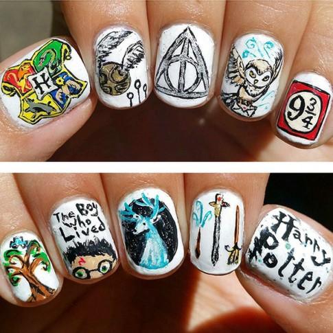 15 mẫu móng tay nail ma thuật đẹp 2016 cho tín đồ Harry Potter