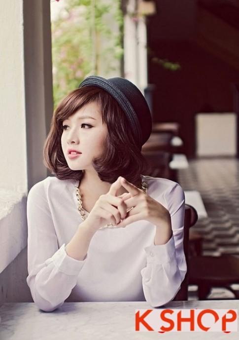 2 kiểu tóc bob xoăn Hàn Quốc 2016 đẹp cá tính cho bạn gái khuôn mặt nhỏ