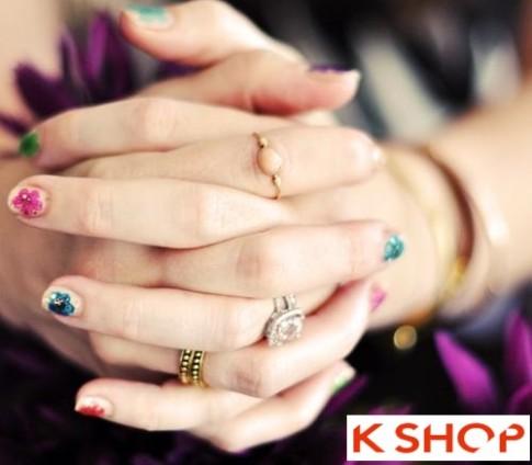 2 Kiểu vẽ nail móng tay hoa đẹp 2016 đơn giản nghệ thuật cho bạn gái