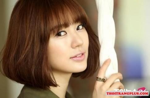 7 Kiểu tóc ngắn ngang vai uốn xoăn đẹp Hàn Quốc mùa hè 2016