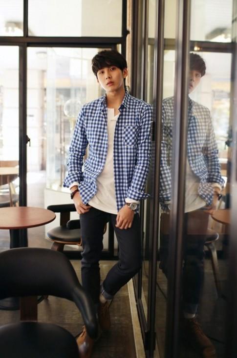 Áo sơ mi nam sọc caro Hàn Quốc đẹp cho chàng dạo phố hè 2016