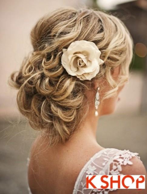 Búi tóc đẹp 2016 cho cô dâu lãng mạn quyến rũ cuốn hút ngày cưới