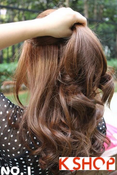 Cách búi tóc xoăn đẹp 2016 đơn giản tại nhà cho bạn gái duyên dáng