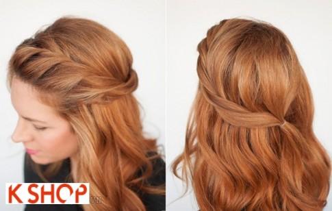 Cách tết tóc mái xoắn vặn dài đẹp 2017 cho bạn gái duyên dáng điệu đà