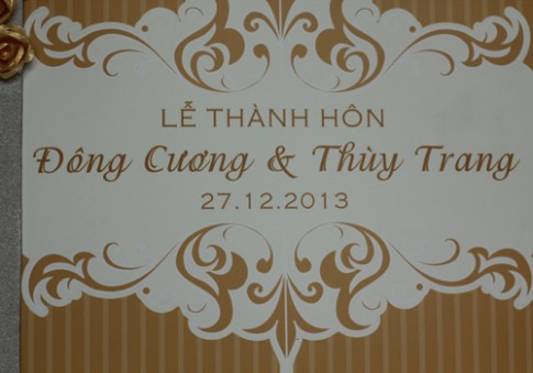 Chồng á hậu Thùy Trang đẹp như... Kim Tan!