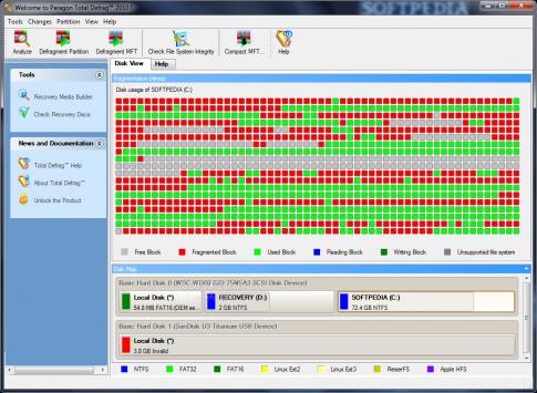 Chống phân mảnh ổ cứng toàn diện với Paragon Total Defrag