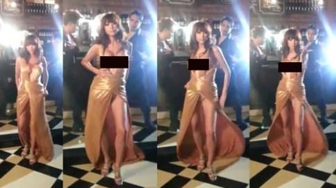 Cựu á hậu Thái Lan hớ hênh khi quay MV