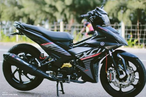 Exciter 150 trang bị bộ giáp đầy ấn tượng của biker Nha Trang