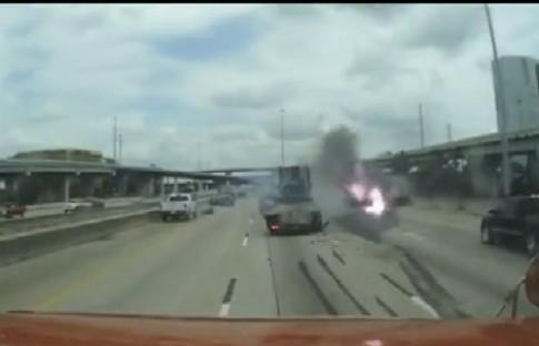 Hiểm họa chết người khi chạy nối đuôi trên cao tốc