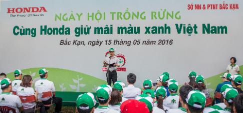 Honda Việt Nam tổ chức 'Ngày hội trồng rừng' 2016