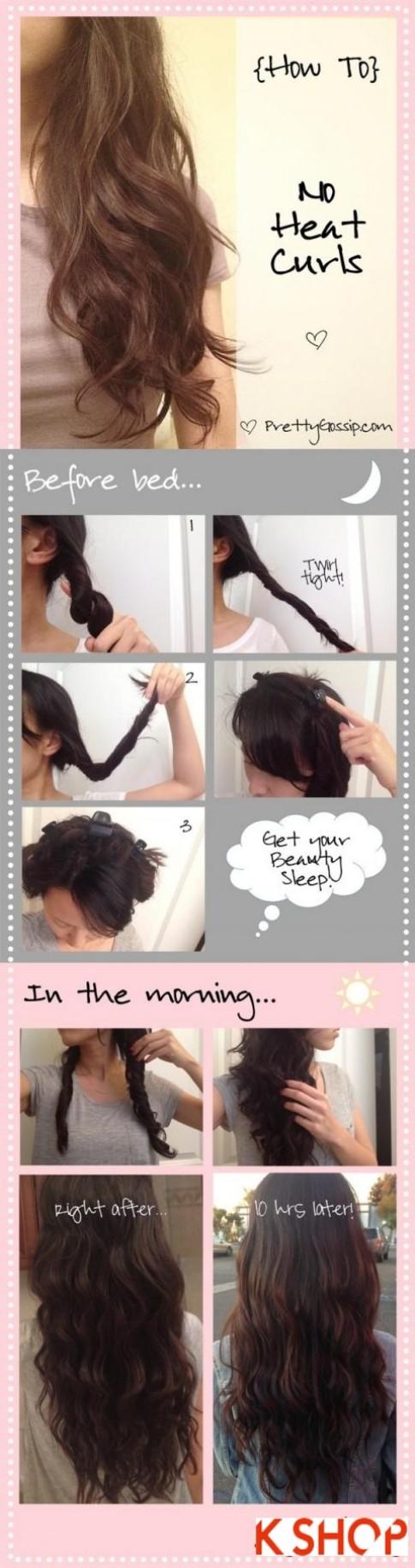 Hướng dẫn 4 cách làm mái tóc xoăn tự nhiên đẹp dễ làm cho bạn gái